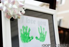 Etched Handprint Frame From Oopsey Daisy | DIY Mothers Day Gifts