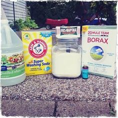 Homemade cleaning recipies including laundry detergent, all purpose spray cleaner, hand soap