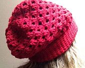 Laurel: Slouchy #crochet Beanie for teens and women by Careful's Crochet on Etsy