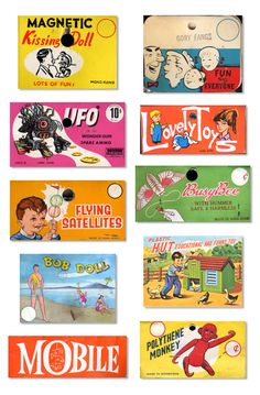 Dime store packaging (header cards for toys and knickknacks)