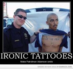 """and when you misspell """"tattoos"""" then you end up like the defendant here."""