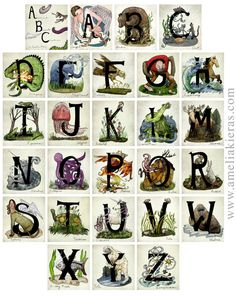 Fifteen Individual Alphabet Letters for Name Signs by AmeliaKieras, $35.00