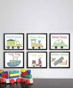 Vehicle Prints - Set of Six