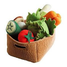 Cloth Veggies and Basket toy - IKEA