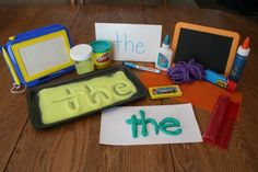 Tips for Learning Sight Words - Various Modalities & Hands On