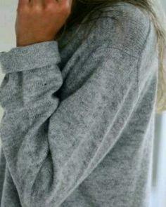 Cozy oversized grey sweater