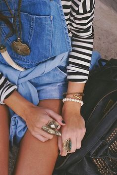 Stripes, denim