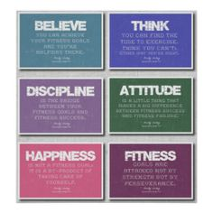 6 #Fitness #Quotes Poster in Pastels