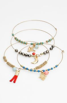 beaded bangles with cute little charms