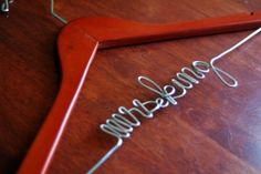 Need a hanger like this!! Custom Hanger for wedding, can be found @etsy.com