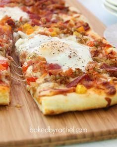 Breakfast Pizza Recipe from bakedbyrachel.com