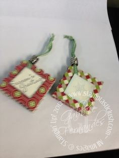 Stampin Up! Pop Up WOW Ornament