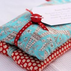 Homemade Heating Packs with Lavendar -- This simple sewing project makes a useful get well gift, and you can customize it with your choice of aromatherapy for a little extra indulgence.  My preference is lavender, but you can also add mint, eucalyptus, or cloves.