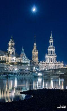 Night in Dresden, Germany