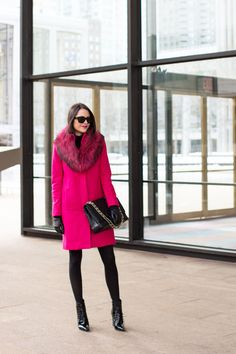 love this fuchsia coat.