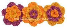Cómo tejer una flor ondulada a crochet