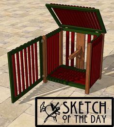 Garden Hose Storage Box