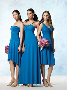 #BLUE #wedding #bridesmaids #dresses