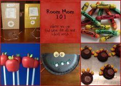 Room Mom 101...lots of classroom party, teacher appreciation ideas