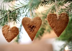 craft, cinnamon heart, dough ornaments, holiday ornaments, valentin, christma ornament, diy christmas ornaments, cinnamon ornaments, cooki heart