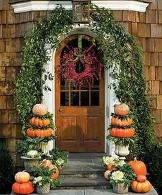 Autumn Cottage Front Entrance...