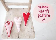 Skinny Hearts - free crochet pattern