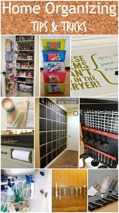 home organizing tip and tricks