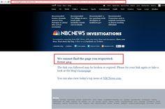 NBC Deletes Article Exposing Obama Admin …Reposts Edited Version