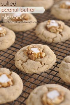 Salted Peanut Butter Blossoms by @Leigh Anne, YourHomebasedMom on iheartnaptime.com ...YUM! #cookie #recipes