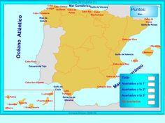 Mapa interactivo de las costas españolas