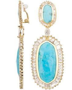 Kendra Scott Turquoise Clip On Earrings