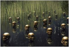 Heads of the North - sculpture by Dadang Christanto, photo by Martin Ollman