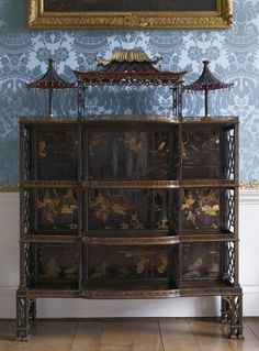 Chinoiserie cabinets.. beautiful