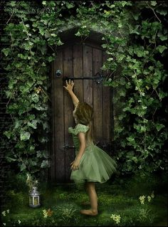 Secret Garden little girls, the doors, secret gardens, green, garden gates, garden doors, fairi, the secret garden, fairy doors