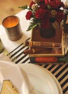 Speakeasy Wedding Table Decor