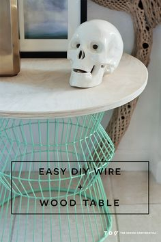 Easy DIY Wire + Wood Side Table | The Design Confidential