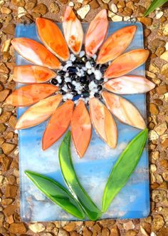 Sunflower - Fused Glass