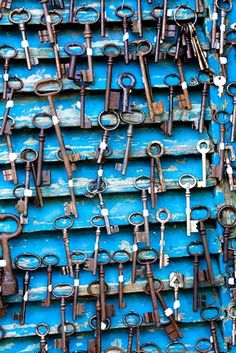 Beautiful collection of keys...