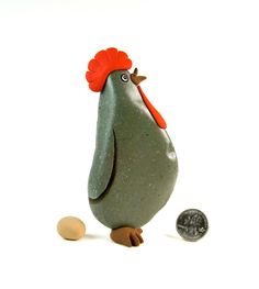 Painted rock, Painted stone, Rock Hen.  $18