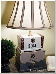 Adorable DIY Craft Box Lamp