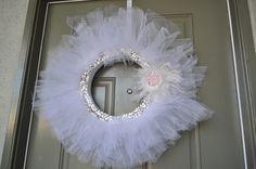 pin idea, rhinestones, front door wreaths, rhineston wreath, girl bedrooms, craft idea, random pin, winter wreaths, girl rooms