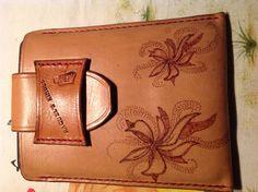Leather case handmade (Funda de cuero pirograbado a mano)