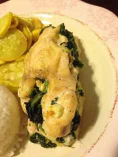 easy spinach and feta stuffed chicken breast