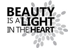 "Tattoo Ideas & Inspiration | Quotes & Sayings | ""Beauty is a Light in the Heart"""