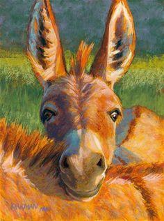 """Peek-a-Burro"" - Original Fine Art for Sale - © Rita Kirkman"
