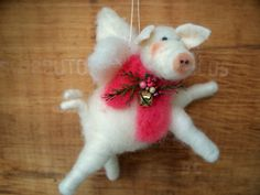 When Pigs Fly Wool Wrapped/Needle Felted by WhimsicalWoolies