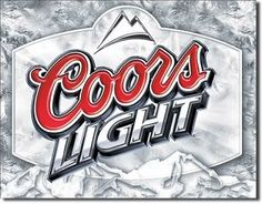 Coors Light Frosted Tin Sign, $8.95