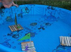 looks like fun!!  craft stick boats by mommachels, via Flickr