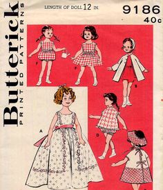 1950s Ginny Doll Clothes Sewing Pattern 12 by PrettyPatternShop, $11.95