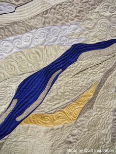 "close up of quilting, ""Woman at Rest""  by Jennifer June.  2014 AQS show, photo by Quilt Inspiration"